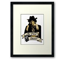 Doctor Who - My first Doctor (Who) Fourth 4th Tom Baker Framed Print