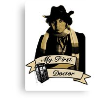 Doctor Who - My first Doctor (Who) Fourth 4th Tom Baker Canvas Print