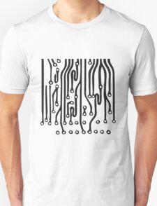 lines microchip disk pattern design cool lines Unisex T-Shirt