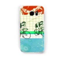 Cycling Mixed Media Collage Illustration Samsung Galaxy Case/Skin