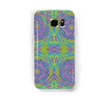 Psychedelic Green Purple Fractal Pattern Samsung Galaxy Case/Skin