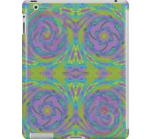 Psychedelic Green Purple Fractal Pattern iPad Case/Skin
