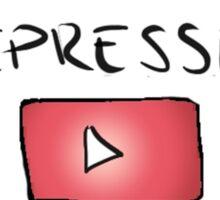 Stressed Depressed Youtube Obsessed Print Sticker