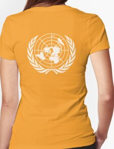 UNITED NATIONS, EMBLEM of the United Nations, EMBLEM OF THE UN, PURE AND SIMPLE Womens Fitted T-Shirt
