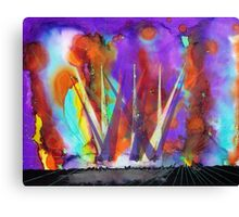 Live Concert Rock n Roll Light Show Painting Canvas Print