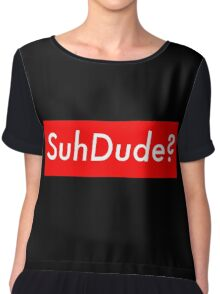 SuhDude Sticker (Preme x Getter) Chiffon Top