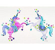 Pastel Unicorns Photographic Print