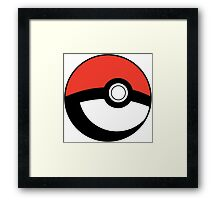 Pokeball Transparent Framed Print