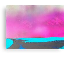 Neon Beach Canvas Print