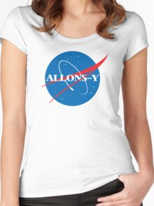 Allons-y NASA logo Women's Fitted Scoop T-Shirt