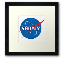 Shiny - NASA logo Framed Print