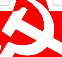 Red Star, Hammer and sickle, in five leg star. Communism, BLACK Sticker
