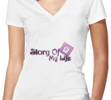 For The Domestic of the family Women's Fitted V-Neck T-Shirt