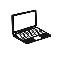 laptop notebook tablet computer pc mobile screen Photographic Print