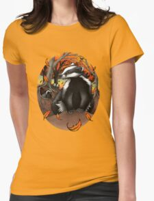 Badgers at Fall Womens Fitted T-Shirt