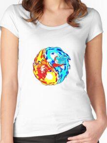 Goku Super Saiyan God Women's Fitted Scoop T-Shirt