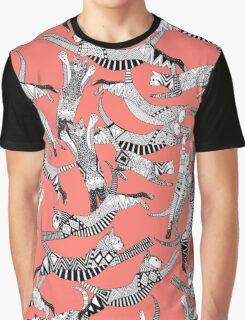 cat party blush coral Graphic T-Shirt