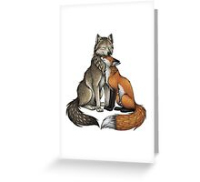 Wolf & Fox Greeting Card
