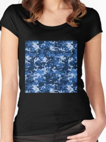 Pixel camouflage Women's Fitted Scoop T-Shirt