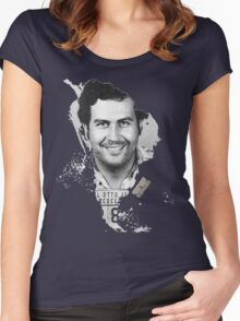 Pablo Escobar Mugshot Continent 2 Women's Fitted Scoop T-Shirt