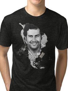 Pablo Escobar Mugshot Continent 2 Tri-blend T-Shirt