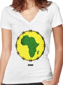 AFRICAN Women's Fitted V-Neck T-Shirt