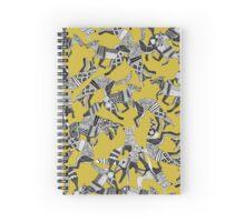 woodland fox party ochre yellow Spiral Notebook