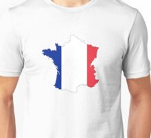 France Map And Flag Unisex T-Shirt