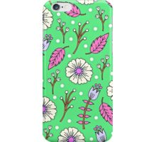 Spring Blossoms in Green iPhone Case/Skin