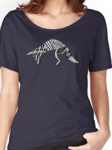 woodland fox party black white Women's Relaxed Fit T-Shirt