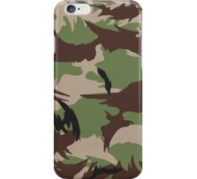 Pixel camouflage green iPhone Case/Skin