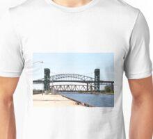 Burlington Skyway Bridge, Burlington Canal and Lift bridge in Ontario, Canada. Unisex T-Shirt