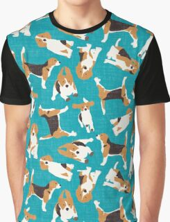 beagle scatter blue Graphic T-Shirt