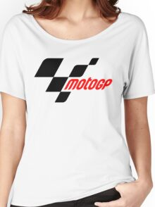 motogp logo black red 2016 Women's Relaxed Fit T-Shirt