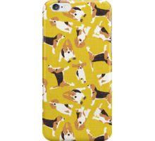 beagle scatter yellow iPhone Case/Skin