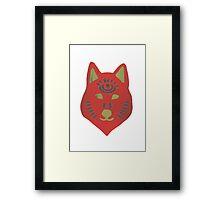 Spirit Wolf - Red Framed Print