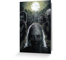 Zombies are rising (T-shirt, Phone Case & more) Greeting Card