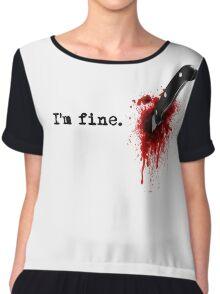 I'm fine Chiffon Top