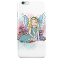 Cute angel with a bunny iPhone Case/Skin