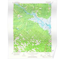 USGS TOPO Map New Jersey NJ Green Bank 254425 1956 24000 Poster