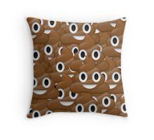 Poop face emoji Throw Pillow