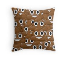 Poop face emoji Throw Pillow