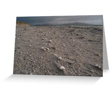 Beach landscape from the Isle of Berneray Outer Hebrides Scotland Greeting Card