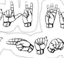 I talk with my hands Sticker