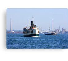 Ferryboat transportation. Canvas Print