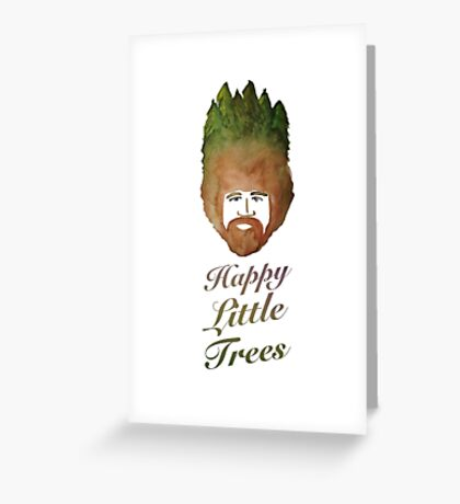 Happy Little Watercolor Trees Greeting Card