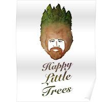 Happy Little Watercolor Trees Poster