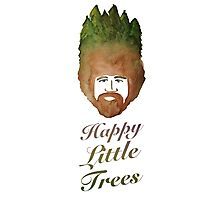 Happy Little Watercolor Trees Photographic Print
