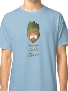 Happy Little Watercolor Trees Classic T-Shirt