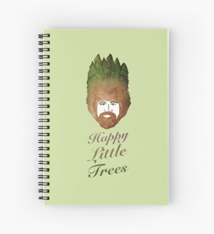 Happy Little Watercolor Trees Spiral Notebook